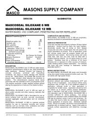 MASCOSEAL SILOXANE 6 WB MASCOSEAL ... - masco.net