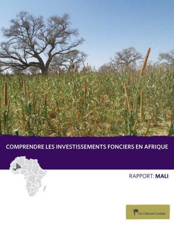 comprendre les investissements fonciers en afrique - Oakland Institute