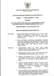 Tata Cara Penetapan Tarif Jasa Telekomunikasi Yang Disalurkan ...