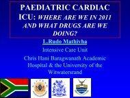 Paediatric cardiac ICU