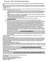 November 4, 2009 DPH Weekly Email Updates - Northeastern ...