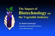 Veg Biotech slides - Aggie Horticulture - Texas A&M University