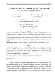 Gerenciamento de Recursos em Sistemas Distribuídos usando ... - LSI