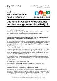 betreuungsgesetz (BayKiBiG) - Kinderbetreuung in Augsburg - Stadt ...
