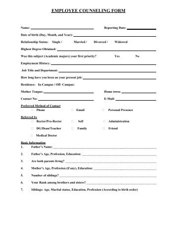 EMPLOYEE INFORMATION FORM - People Incorporated