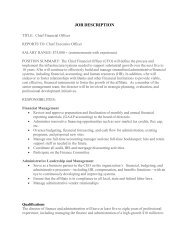 JOB DESCRIPTION - Habitat for Humanity of the Chesapeake