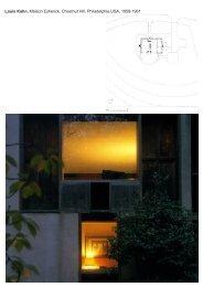 Louis Kahn, Maison Esherick, Chestnut Hill, Philadelphie,USA, 1959 ...
