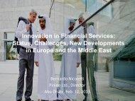 Innovation on Financial Services: Status ... - Bernardo Nicoletti
