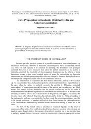 Wave Propagation in Randomly Stratified Media and ... - IPPT-PAN