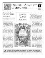 June 2005 Newsletter - Milwaukee Academy of Medicine