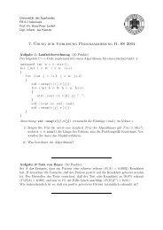 7. ¨Ubung zur Vorlesung Programmierung II, SS 2004