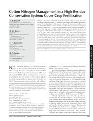 Cotton Nitrogen Management in a High-Residue Conservation System
