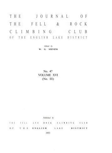V - Fell and Rock Climbing Club