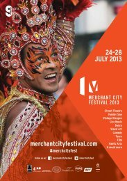 Merchant City Festival Brochure 2013 - Wasps Artists' Studios