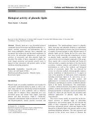 Biological activity of phenolic lipids