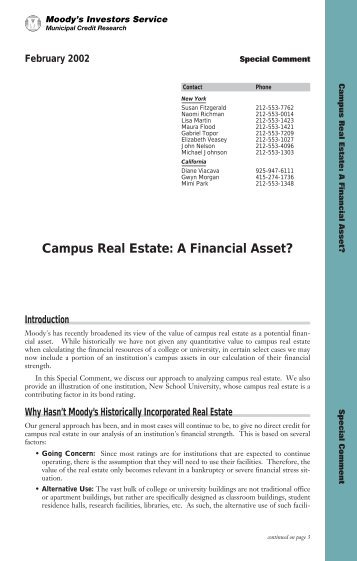 Campus Real Estate: A Financial Asset? - NACUBO