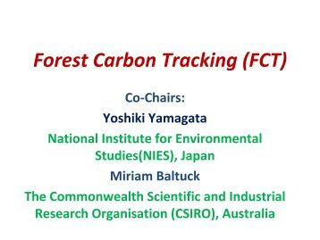 Forest Carbon Tracking (FCT)