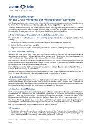 Rahmenbedingungen für das Cross Mentoring der Metropolregion ...
