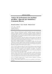 Analyse des performances des machines parallèles : approche par ...