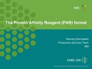 The HUPO-PSI Protein Affinity Reagent (PAR) - ProteomeBinders