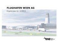 Präsentation zum Quartalsergebnis 1-9/2013 - Flughafen Wien