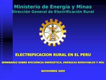 Electrificación Rural en Perú - Tech4CDM