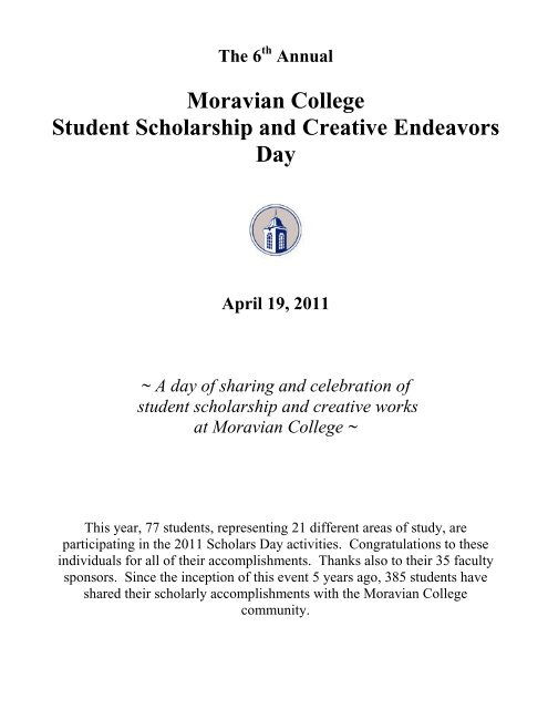 Moravian College Student Scholarship and Creative Endeavors Day
