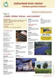 Tour 5 Motorradtouren - Traumrouten