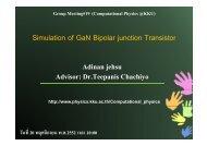 Simulation of GaN Bipolar junction Transistor