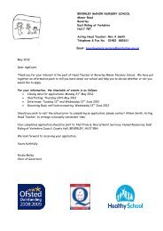 Application pack for the post of Headteacher at Beverley Manor ...