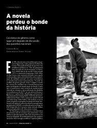A novela perdeu o bonde da história - Revista Pesquisa FAPESP