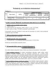 Př. č. 1 - Požadavky na technickou dokumentaci - Veřejné zakázky