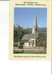 Die Kirchen von Pfarrwerfen - Werfen - Werfenweng