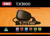 INSTRUCTION MANUAL Super compact 5 Watt 80 Channel ... - GME