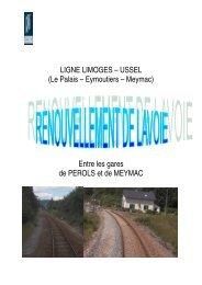 LIGNE LIMOGES – USSEL (Le Palais – Eymoutiers – Meymac ... - RFF