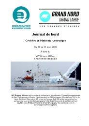 Journal de bord - Spitzbergen