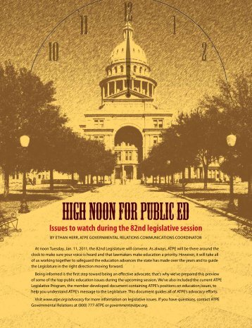 Issues to watch during the 82nd legislative session - Association of ...