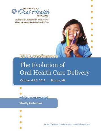 Whitepaper Excerpt (Gehshan) - Institute for Oral Health