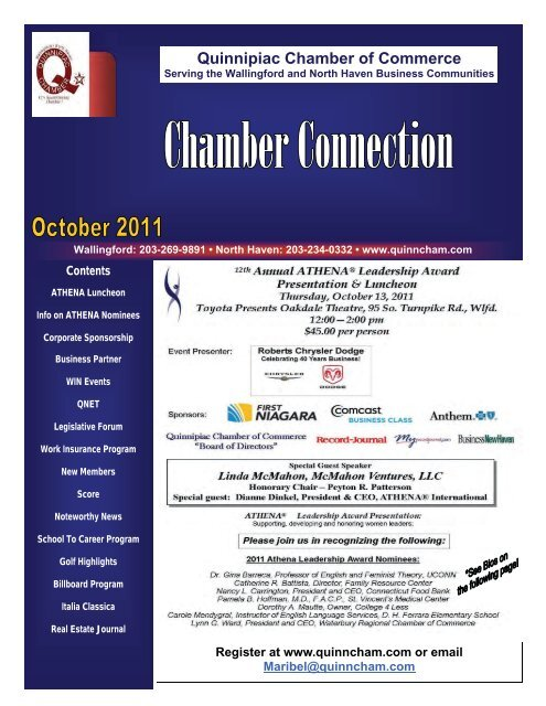 2011 Business Partners - The Quinnipiac Chamber of Commerce