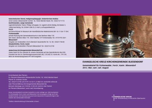 Gemeindebrief Mai/Juni/ Juli/August 201 - Evangelische Kreuz ...