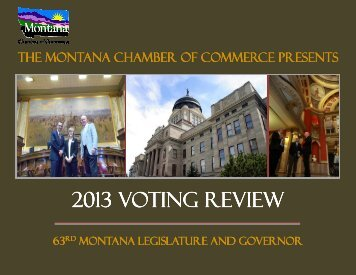 2013 Voting Review - Montana Chamber of Commerce