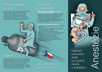 Informace o anestezii - Česká společnost anesteziologie ...