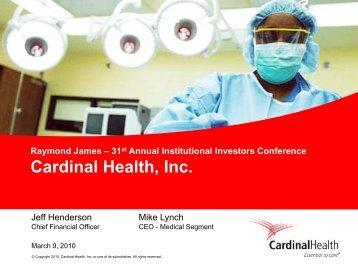 Cardinal Health, Inc. - Rationalinvesting.com