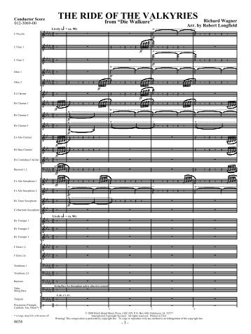 The Ride of the Valkyries-score - Music Ruh