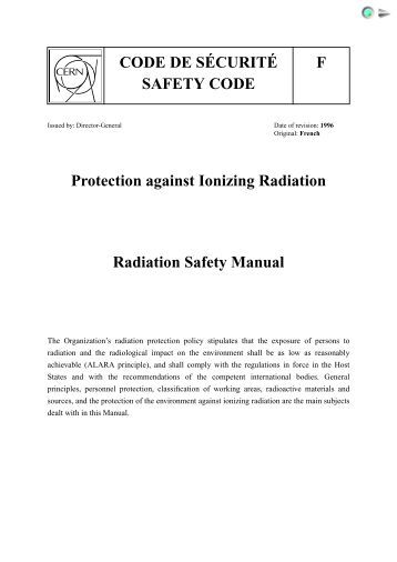 What are the principles of radiation safety?