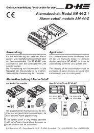 AM 44-Z - Alarmabschalt-Modul (147KB) - D+H Mechatronic