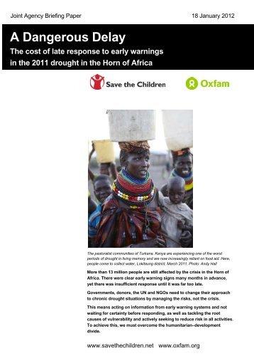 A Dangerous Delay - Oxfam International