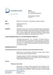 Päätös Nro 34/2013/1 Dnro LSSAVI/309/04.08/2010 Annettu ...