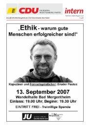 intern intern - CDU Main-Tauber