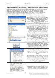 Arbeitsblatt Nr. 3 : WORD – Datei öffnen / Text ... - goodschool.de